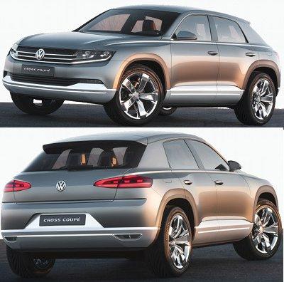 Présentation du concept car Volkswagen CrossCoupé Concept de 2012, qui annonce un futur VW Tiguan.